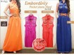 Maxi Dress Jeans Warna #102