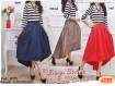 Dress Stripes Hi Lo Skirt #2035