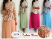 Gamis Peplum Flower #3079
