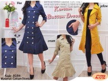 Jaket Coat Dress Katun #8284
