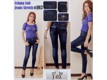 Celana Soft Jeans Stretch #j02