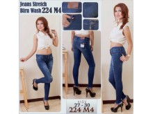 Jeans Stretch Biru Wash #224M4