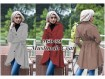 Jaket Coat #023 Cream / Merah / Coklat