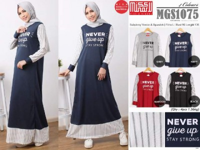 Gamis Babyterry Never Give Up #MGS1075