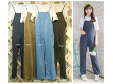 Set Jumpsuit Katun Denim Dengan Inner Kaos #1392