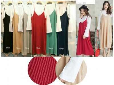 Korean Style Dress Set 2 in 1 #1399