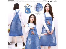 Overall Dress Kodok 7/8 Bordir #147