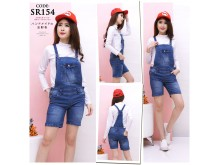 Overall Celana Pendek Jeans Stretch #154 M/L/XL