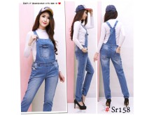 Jumpsuit jeans stretch wash #158 M/L/XL