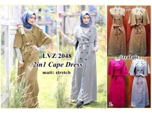 2 in 1: Dress + Coat Cape #2048