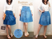 Rok Jeans Kancing #241