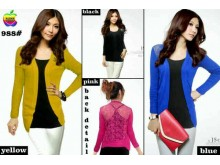 Cardigan Brokat Import #2349