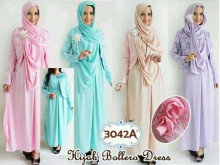 Hijab Set: Dress, Jaket, Pashmina #3042a