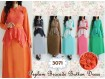 Gamis Peplum Brokat #3071