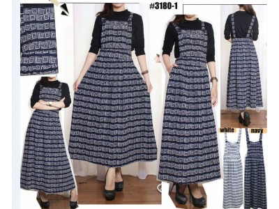 Jumpsuit Dress Kotak Abstrak #31801