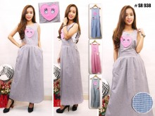Overall Dress Heart Patch #938