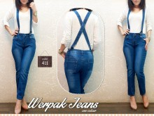 Jeans Suspender Overall #411 M/L/XL