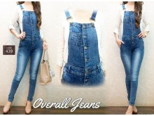 Celana Overall Jeans Skinny #439 M/ L/XL