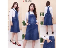Jumpsuit Jeans Dress Navy Jumbo #478 3XL/4XL