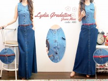 Gamis Jeans Extra Belt #480