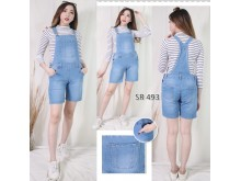 Jumpsuit Jeans Stretch Big Size #493 2XL/3XL/4XL