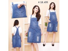 Overall Midi Skirt Big Size #499 2XL/3XL/4XL