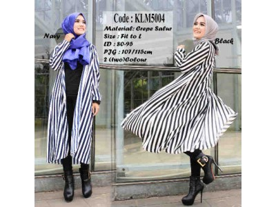 Long Cardi Stripes #5004