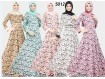 Gamis Bunga Premium Set Jilbab #5012