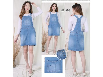 Jumpsuit Rok Jeans Stretch Big Size Jumbo #508 5XL/6XL