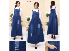 Overall Dress Jeans Navy Jumbo #534 2XL/3XL/4XL