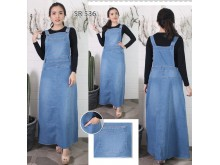 Dress Kodok Jeans Stretch Premium #536 2XL/3XL/4XL