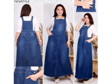 Overall Dress Jeans Big Size Fit 5XL #537