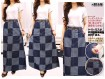 Rok Maxi Jeans Kotak #546