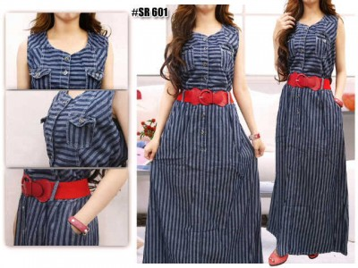 Long Dress Jeans Salur #601