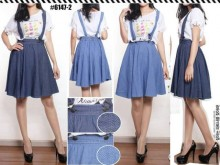 Overall Jeans Flare Skirt #61472