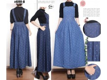 Jumpsuit Jeans Dress Polkadot #61918