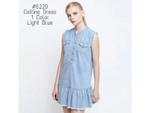 Zara dress jeans sleeveless #6220