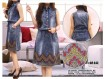 Dress Jeans Serut Bordir #643