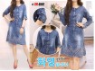 Sack Dress Jeans Lengan Panjang #644
