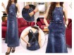 Jumpsuit Dress Jeans Snow #647