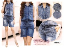 Celana Overall Jeans #687