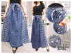 Rok Payung Jeans Bordir #703