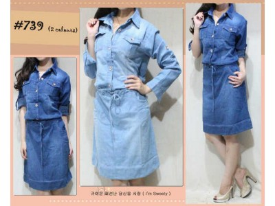 Dress Jeans Lengan Panjang #739