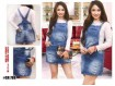 Overall Rip Jeans Skirt #788 M / L / XL