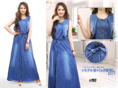 2in1 Dress + Long Vest Jeans #792