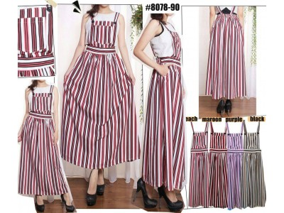 Dress Kodok Katun Salur #807890