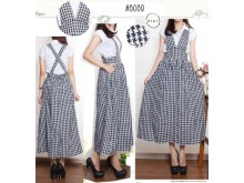 Jumpsuit Dress Motif Houndstood #8089