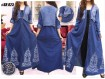 Gamis Jaket Jeans Tebal Bordir #823
