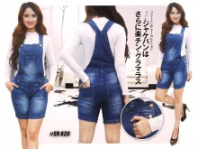 Overall Jeans Short Navy #830 M/L/XL