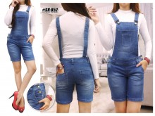 Overall Jeans Shorts M L XL #852
